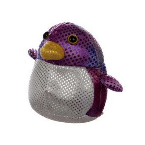 Penguin Sand Animal Collectable Weighted Soft Toy Puckator (1 Supplied)